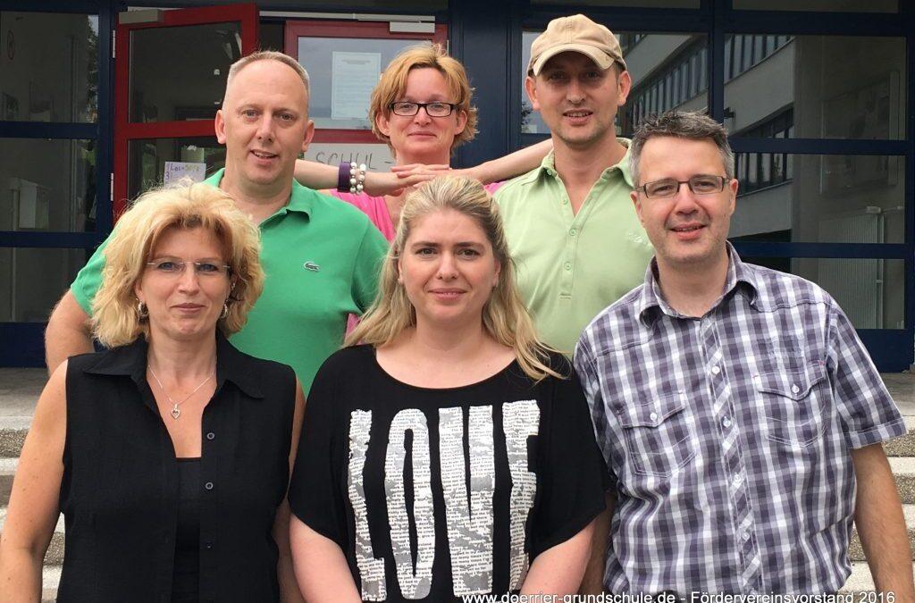 Der neu gewählte Vorstand nach der Mitgliederversammlung am 29. Juni 2016
